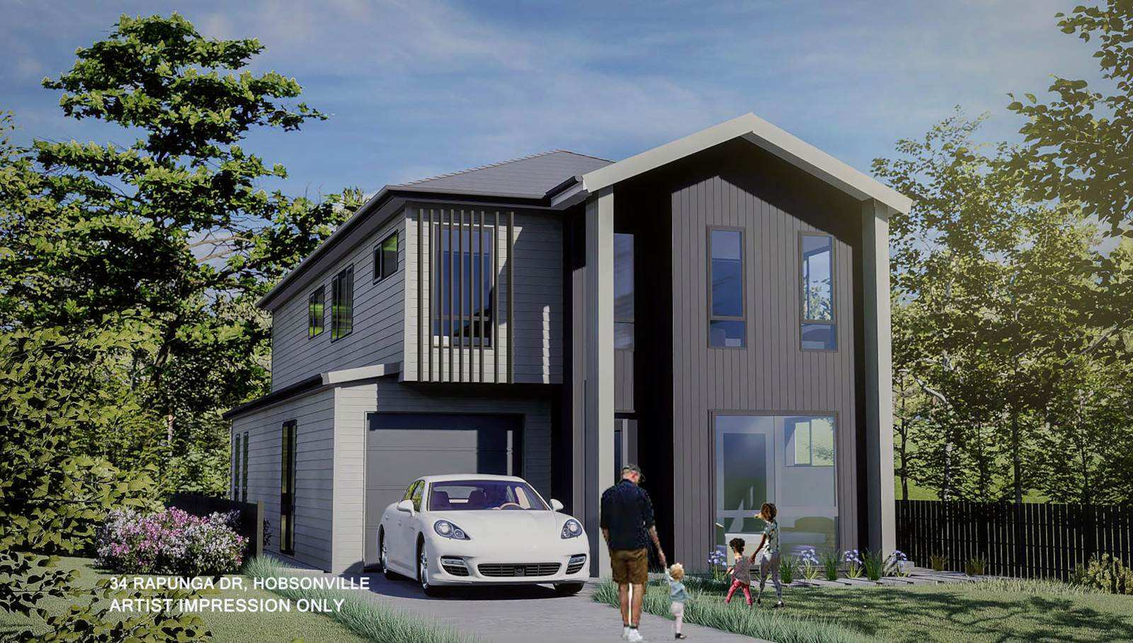 Hobsonville 5房 全新在建美居 首付仅需10% 漫步至海滩 靠近新小学 轻松通勤市中心! No Competition Yet - Secure your family home now!