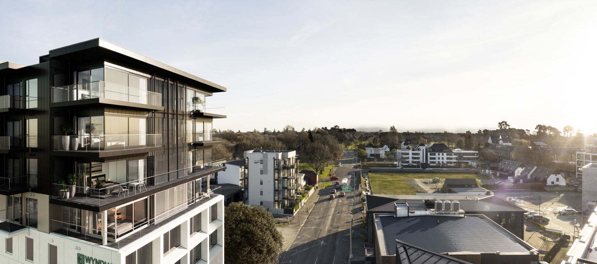 Christchurch Central 3房 Tree Top Views from Three Bed Apartment