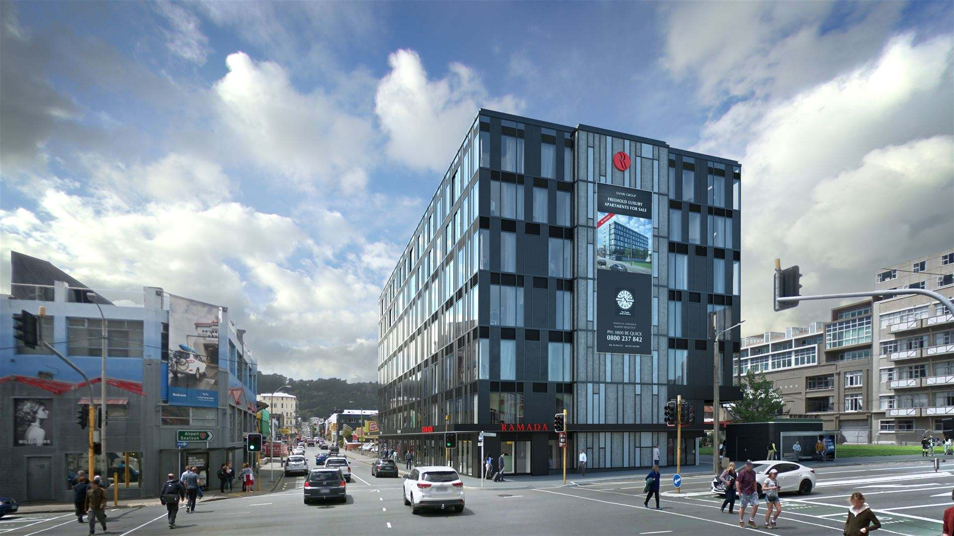 Wellington Central 1房 Secure Affordable Residential & Hotel Suites prime Location