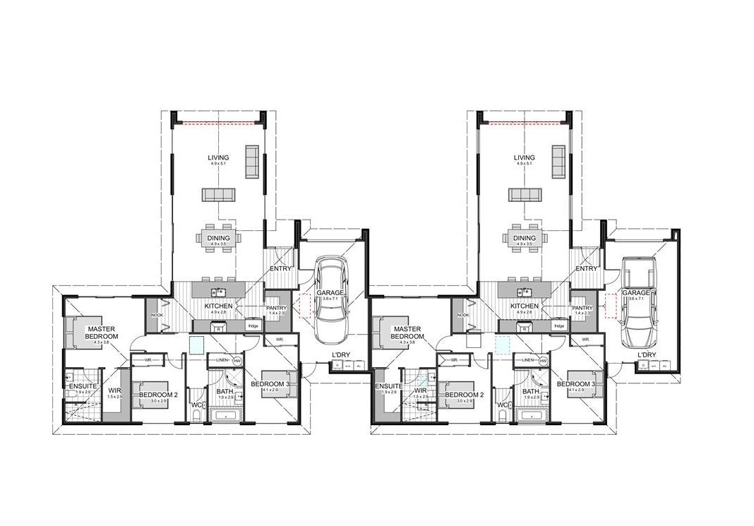 Blenheim Central 3房 Two Townhouse New Builds