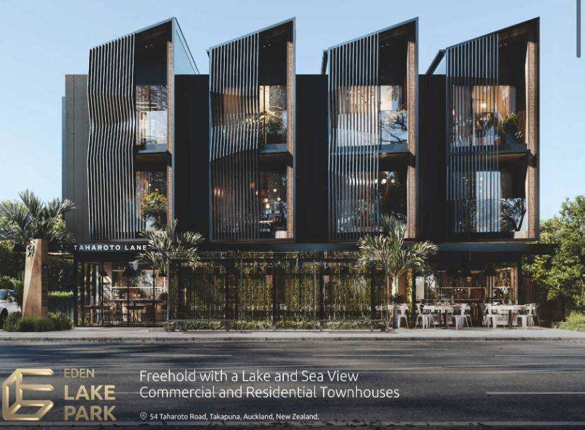 Takapuna 3房 全新在建城市屋 Lake Pupuke湖畔 楼下可做生意 好校云集 顷刻抵达CBD! Easy Luxury living at Lake Park in Central Tak...