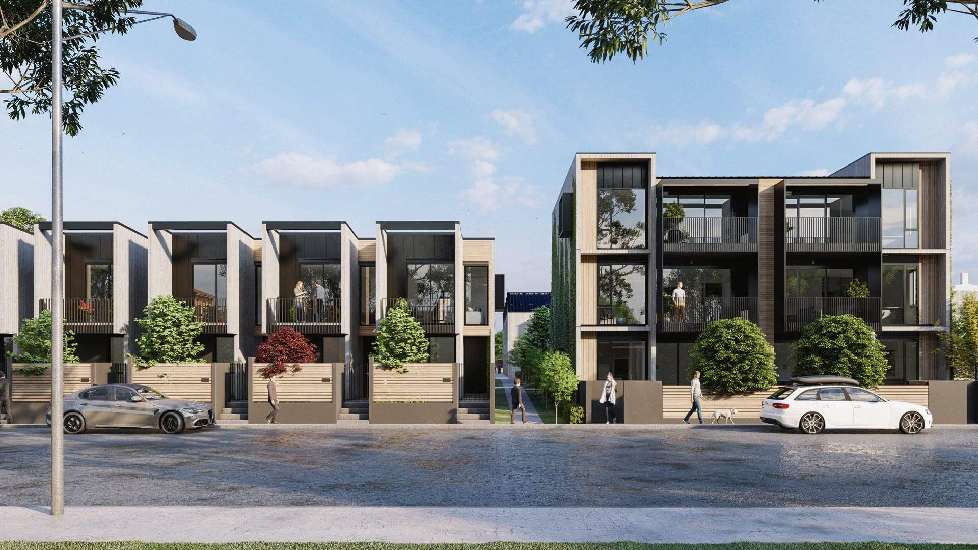 Christchurch Central 2房 高品质阳光新寓 鸟瞰Rauora公园风光 2022年秋竣工 上班族&小户型买家必看! Worcester Terraces -2 Bedroom Apartment
