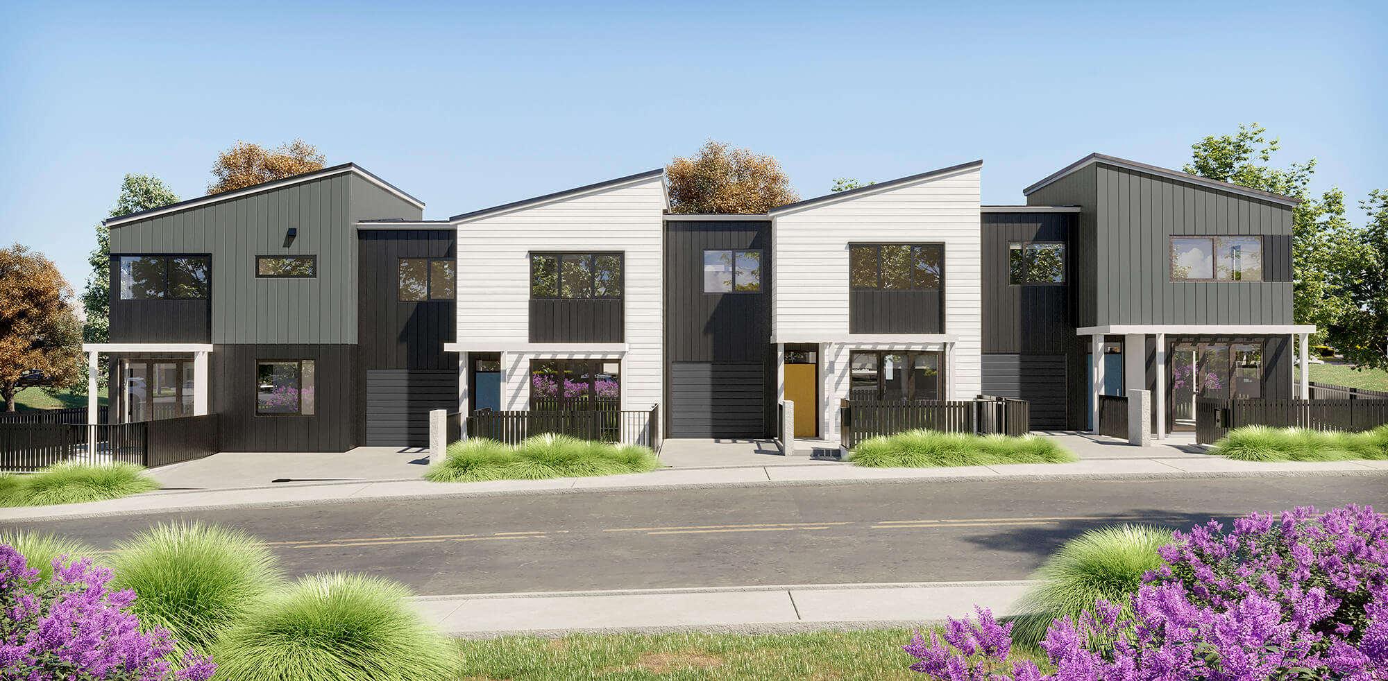 Northcote 品质全新两房$60万起 / 三房$65万起 / 全幅地永久产权城市屋 / 步行至Northcote中心和学校 / 距离奥克兰市中心约9公里